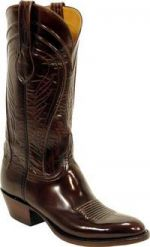 Lucchese Classic Brown Brush Off Goat Cowboy Boot L1507