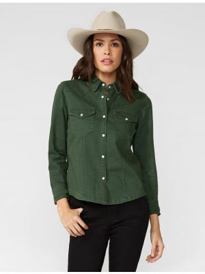 Stetson Olive Twill Embroidered Shirt 11-050-0565-1027