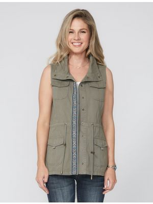 Stetson Cargo Zip Up Applique Vest 11-074-0565-0428