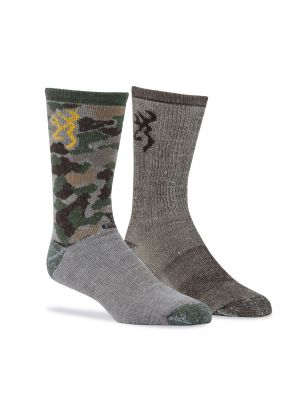 Browning MEN'S EVERYDAY WOOL CAMO SOCKS 12