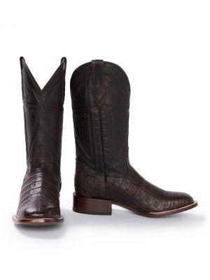 Stetson Men's Kaycee Brown Caiman Belly Cowboy Boot 12-020-1852-0201