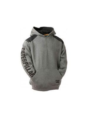 Cat Men's Logo Panel Hooded Sweatshirt 1133