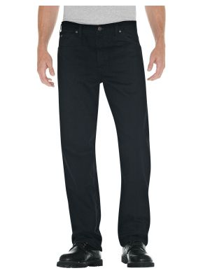 Dickies Relaxed Straight Fit 5-Pocket Denim Jean 13292 Rinsed Overdyed Black (RBB)