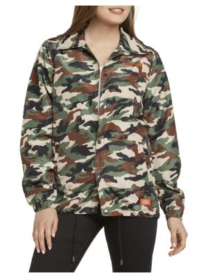 DICKIES GIRL'S Camo Snap Front Wind Breaker Jacket J4009