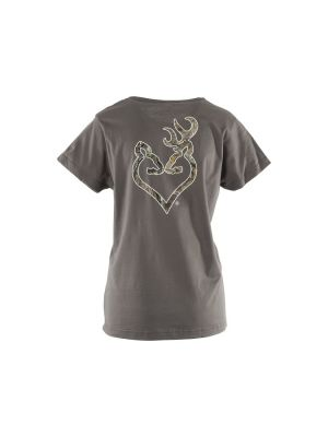 Browning WOMEN'S REALTREE XTRA BUCKHEART T-SHIRT 09