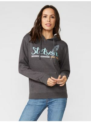 Stetson HOODED SWEATSHIRT WITH FEATHER ART 11-098-0562-7050