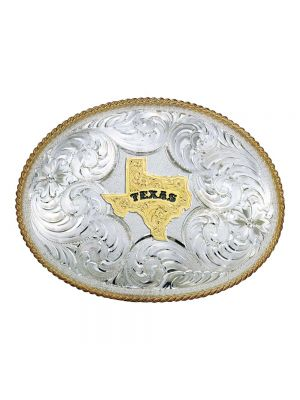 Montana Silversmiths Twisted Rope Texas Buckle 2165-610TX