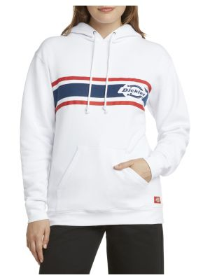 DICKIES GIRL'S Striped Vintage Logo Hoodie J3028
