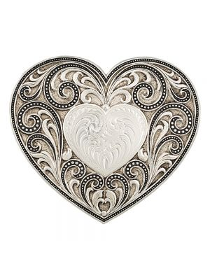 Montana Silversmiths Antiqued Heart Whispers Buckle 27400
