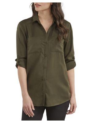 DICKIES WOMEN'S Long Sleeve Button-Up Shirt FL210