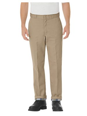Dickies Relaxed Fit Flannel Lined Work Pants 2874 Khaki (KH)