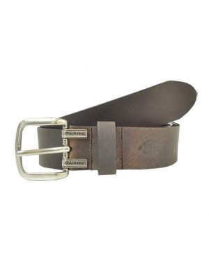 Dickies Mens Leather Cut Edge Logo Belt 1DI02M7