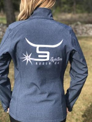 SPIN-EM WOMEN'S Jacket- Blue White Logo JBW523