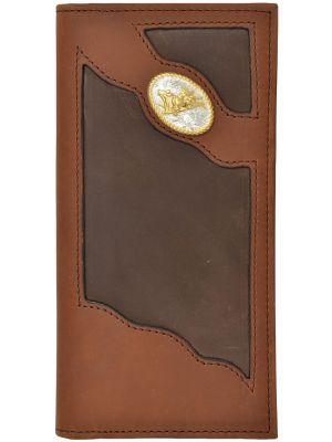 3D Brown Western Rodeo Wallet 3D-TW80C1