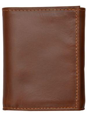 3D Cognac Basic Trifold Wallet 3D-W1017