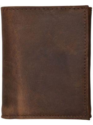 3D Dark Brown Basic Trifold Wallet 3D-W1023