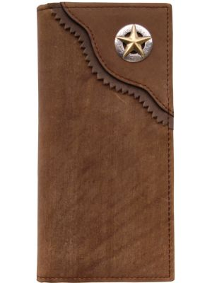 3D Brown Western Rodeo Wallet 3D-W204