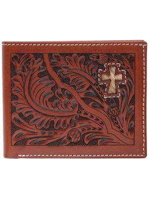 3D Tan Western Bifold Wallet 3D-W445