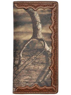 3D Brown Western Rodeo Wallet 3D-W708