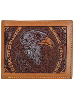 3D Tan Western Bifold Wallet 3D-W751