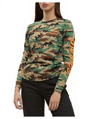 DICKIES WOMEN'S Camo Classic Logo Long Sleeve T-Shirt LS101A