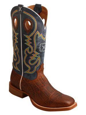 Twisted X Men's Ruff Stock Elephant Print Cowboy 2000244622