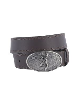 Browning MEN'S OVAL BUCKMARK BUCKLE BELT 12