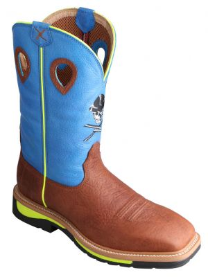 Twisted X Men's Neon Blue Lite Cowboy Work 050X67