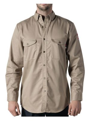 Walls Men's Flame Resistant Button-Down Work Shirt 56390