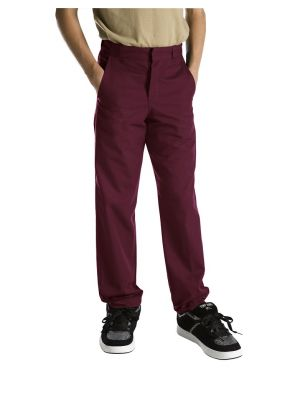 Dickies Boys' Classic Fit Straight Leg Flat Front Pant, 8-20 56562