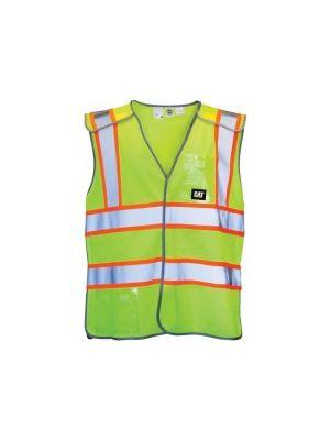 Cat Men's Hi-Vis 5 Pt Breakaway Vest Yellow 1322029