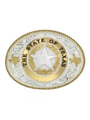 Montana Silversmiths State of Texas Star Seal Western Belt Buckle 61374