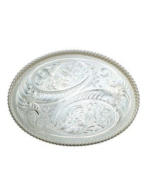Montana Silversmiths Western Engraved Etched Horns Western Belt Buckle 61462