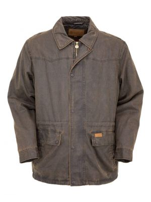 Outback Trading Company Men's Rancher Jacket 2802-BRN-MD