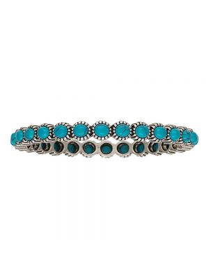 Rock 47 Rocks and Roll Blue Pebble Bangle Bracelet BC2125R47