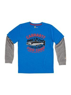 Carhartt BOYS FORCE CARHARTT FISH CAMP TEE CA8724