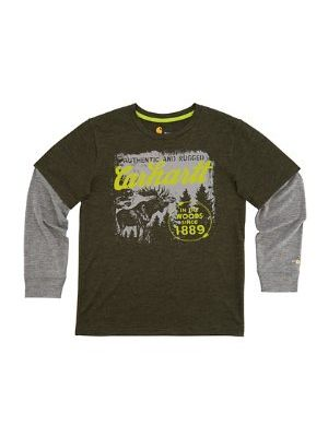 Carhartt BOYS FORCE IN THE WOODS TEE CA8725