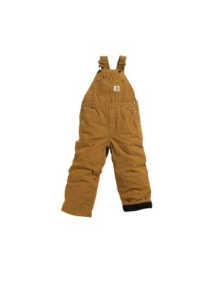 Carhartt BOYS WASHED DUCK LINED BIB OVERALL CM8625