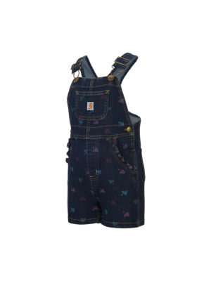 Carhartt GIRLS INFANT/TODDLER PRINTED BIB SHORTALL CM9648