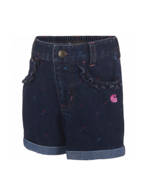 Carhartt GIRLS PRINTED 'C' DENIM SHORT CH9254