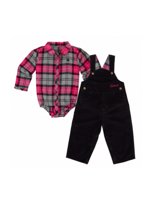 Carhartt GIRLS PRETTY PLAID OVERALL SET CG9668
