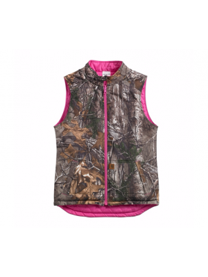 Carhartt GIRLS' REVERSIBLE CAMO VEST CR9900