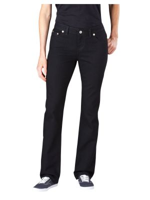 Dickies Women's Slim Straight Leg Denim Jean FD135 Rinsed Black (RBK)