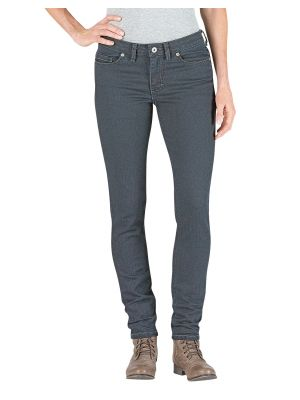 Dickies Women's Slim Fit Skinny Leg Denim Jean FD142 Antique Dark (ATD3)