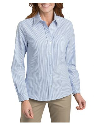 Dickies Women's Long Sleeve Stretch Oxford Shirt FL254