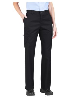 Dickies Women's Premium Relaxed Straight Cargo Pant FP223 Black (BK)