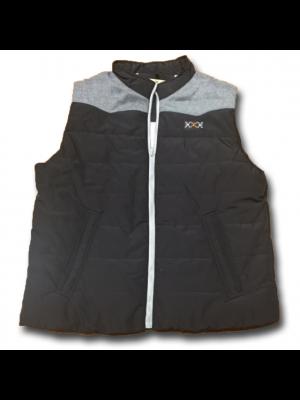 Hooey Cowtown Zip Puffer Vest HV008BKGY