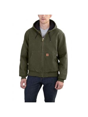Carhartt Men's SANDSTONE ACTIVE JAC / QUILTED FLANNEL LINED J130