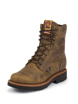 JUSTIN MEN'S RUGGED TAN GAUCHO J-MAX® LACE UP WORK BOOTS 440