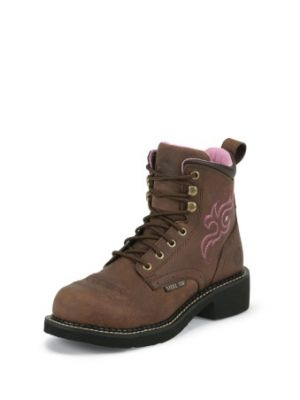 JUSTIN WOMEN'S AGED BARK JUSTIN GYPSY™ LACE UP STEEL TOE WORK BOOTS WKL991